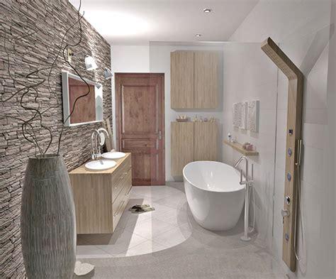 salle de bain zen aux mati 232 res naturelles