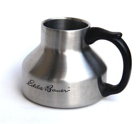 1989 EDDIE BAUER Stainless Streel Travel Mug No Spill Wide