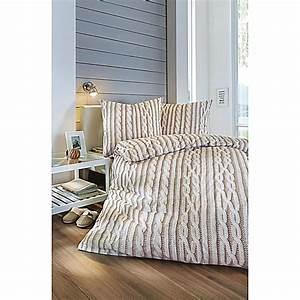 Bettwäsche 155x220 Beige : bettw sche strick beige 155x220 jetzt bei bestellen ~ Markanthonyermac.com Haus und Dekorationen
