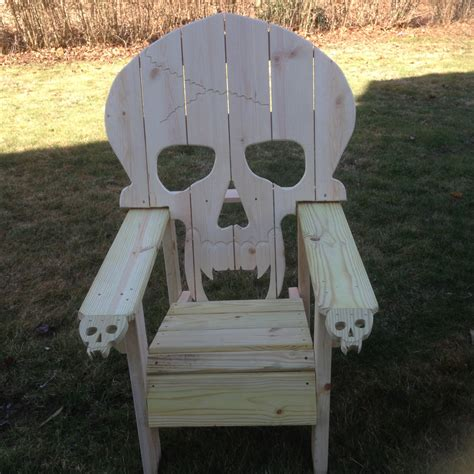 skull chair adirondack chair sized chair yard