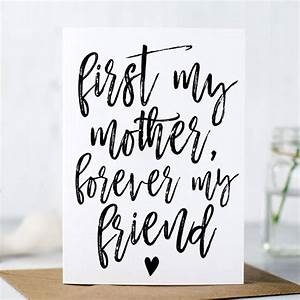 'first my mother, forever my friend' mother's day card by ...