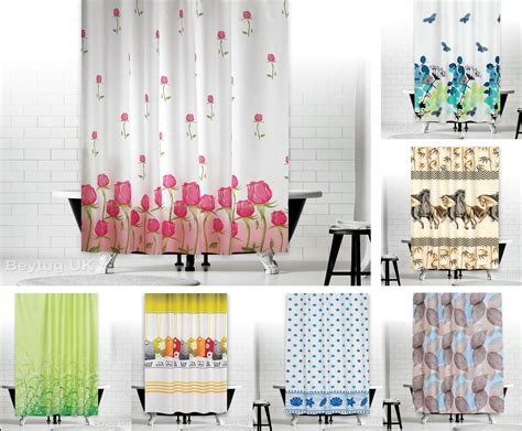 New Designer Fabric Shower Curtains Extra Long 180 X 200 (71
