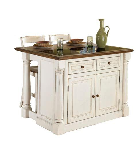 monarch specialties 206 lot de cuisine quot monarch quot dessus granite avec 2 tabourets blanc antique