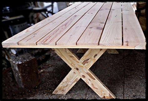 table en bois massif d ext 233 rieur tables en bois massif sur mesure