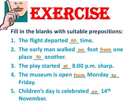 Prepositions Of Direction Exercises