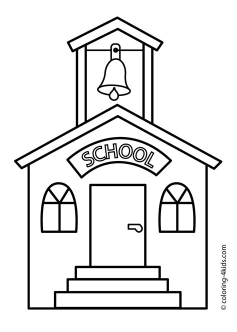 Free Coloring Pages Of School Time