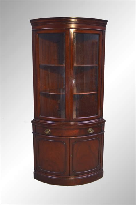 sold mahogany corner china cabinet duncan phyfe maine