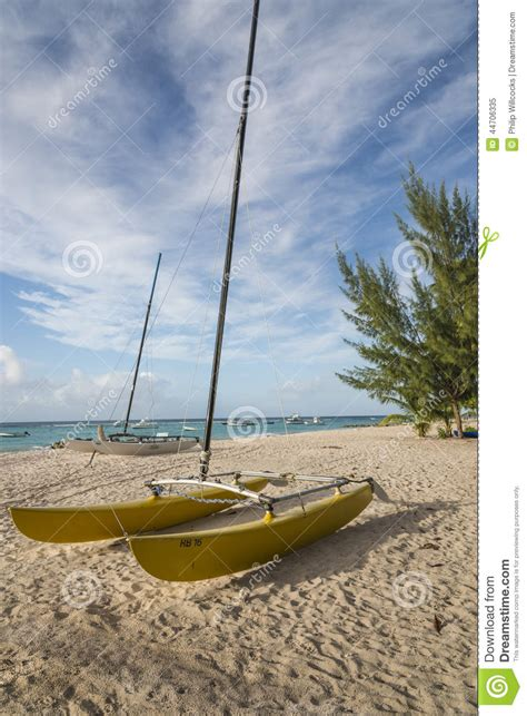 Imagine Catamaran Barbados by Sailing Catamaran Barbados West Indies Editorial Image