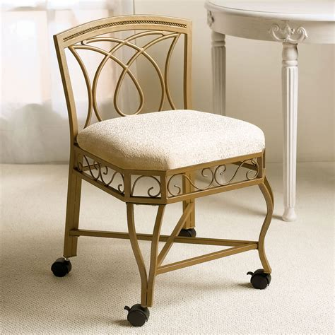 vanity chair with wheels callforthedream