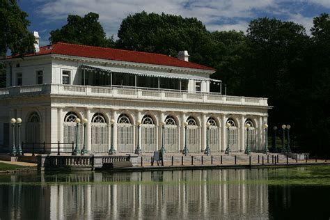 Boathouse On The Lake by Boathouse On The Lullwater Of The Lake In Prospect Park