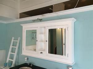 Spiegelschrank Weiß Holz : spiegelschrank wei im landhausstil spiegel wei breite 138 cm ~ Markanthonyermac.com Haus und Dekorationen