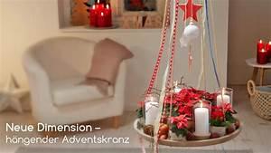 Blumen Von Der Decke Hängen : diy h ngender adventskranz mit weihnachtssternen youtube ~ Markanthonyermac.com Haus und Dekorationen