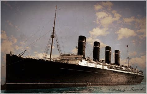 rms lusitania alternative paint livery by rms olympic on