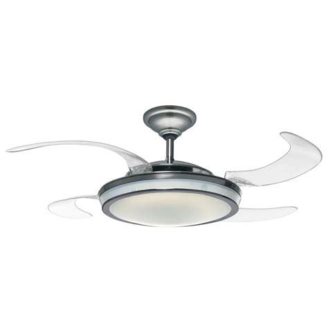 fanaway retractable blade ceiling fan pendant light the green