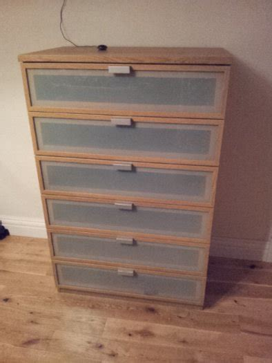 hopen dresser 6 drawer ikea hopen oak chest of 6 drawers for sale in tullow