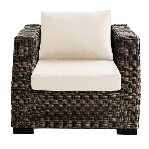 fauteuil de jardin en r 233 sine tress 233 e marron bali maisons du monde
