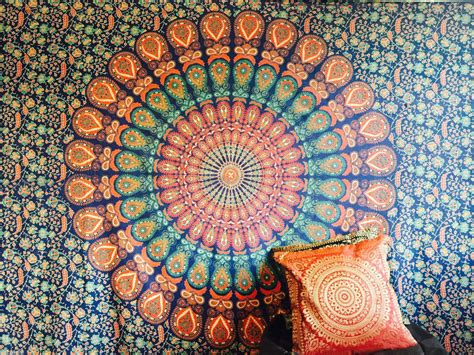 Indian Tapestry Wall Hanging Mandala Throw Hippie Gypsy