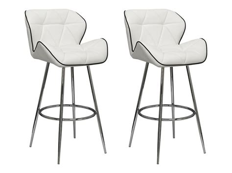lot de 2 tabourets de bar lizzy simili 2 coloris