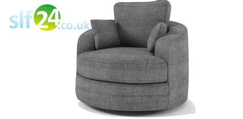 home 187 sale 187 swivel cuddle chair sofa grey fabric