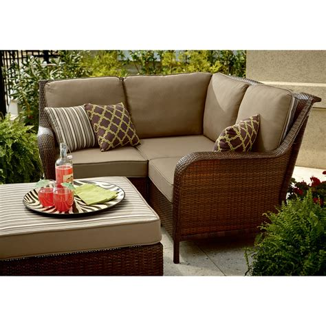 mayfield 4 sectional wicker patio set update your patio sears