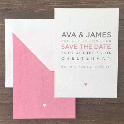 pimlico modern typography save the date wedding cards by megan notonthehighstreet