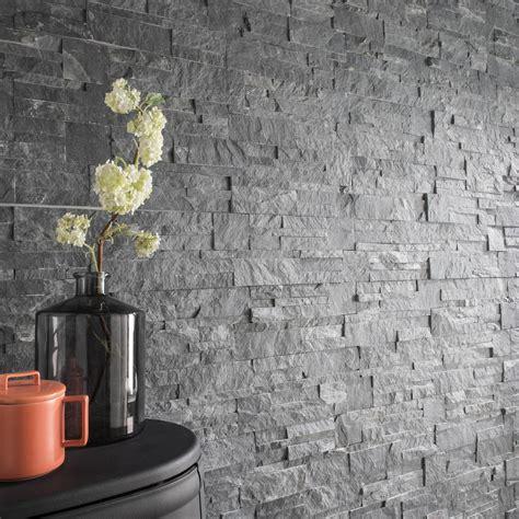 plaquette de parement naturelle gris elegance leroy merlin