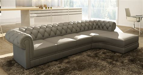 deco in canape d angle gris capitonne chesterfield avec meridienne can angle gris 3 m gris