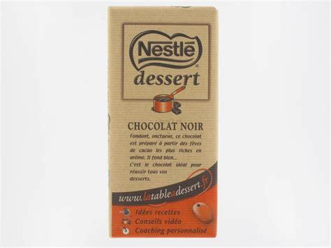 chocolat noir p 226 tissier dessert nestl 233 200 grs tablettes de chocolat proxilivre