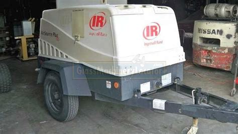 ingersoll rand airsource plus towable air compressor glass machinery air compressors