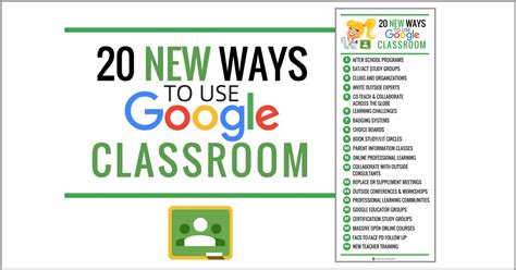 20 New Ways To Use Google Classroom [infographic]  Shake Up Learning
