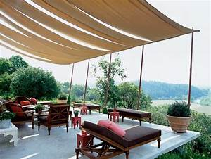 Terrassenüberdachung Aus Stoff : berdachte terrasse 50 top ideen f r terrassen berdachung ~ Markanthonyermac.com Haus und Dekorationen