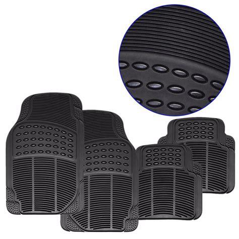 universal 4pcs car floor mats rubber pvc front mat rear