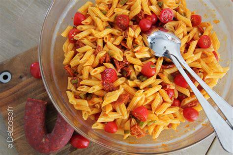 salade de p 226 tes au chorizo par delizioso