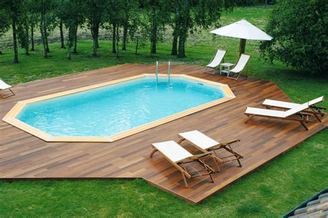 piscine enterr 233 e bois