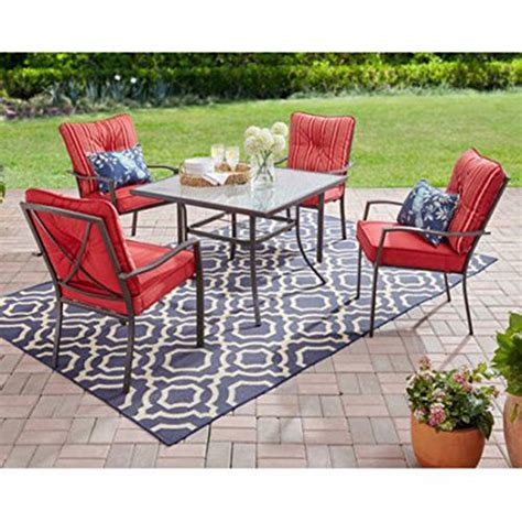 Mainstay Patio Furniture Company by Mainstays Forest 5 Dining Set With Cushioned
