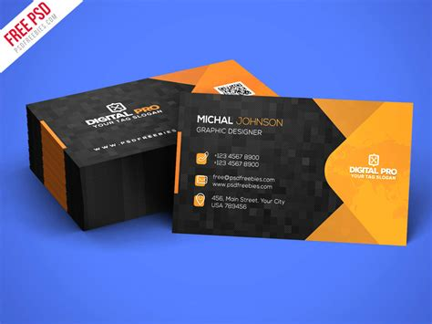 Modern Corporate Business Card Template Psd