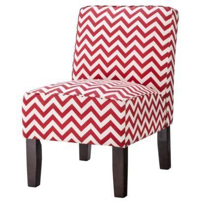 burke armless slipper chair chevron new digs