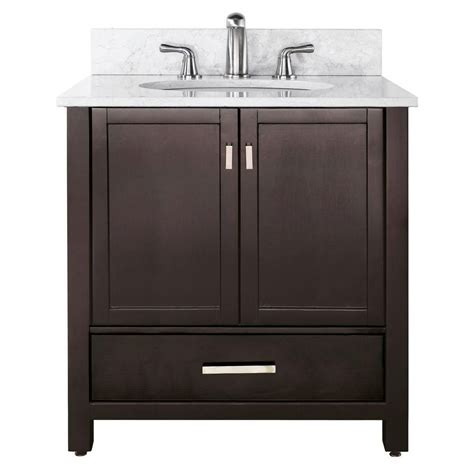 Avanity Modero 36inch W Vanity with Marble Top in Carrara