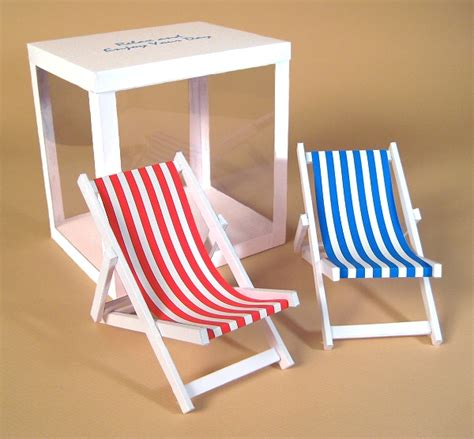 A4 Card Making Templates For 3d Deck Chair & Display Box