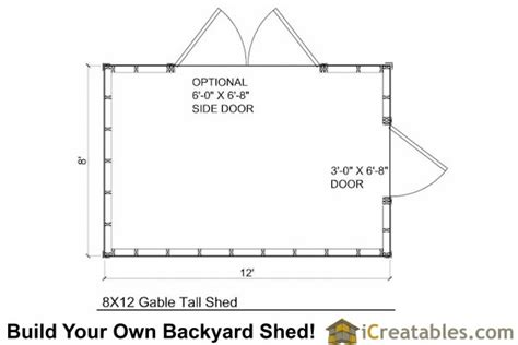 8x12 backyard shed plans shed plans storage shed