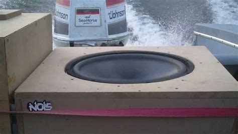 On A Boat Youtube by Two 18 Inch Subwoofers On A Boat Youtube