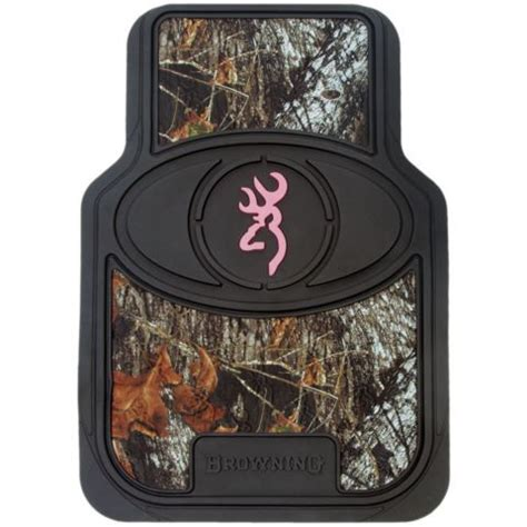 browning pink for camo buckmark floor mat 2 set
