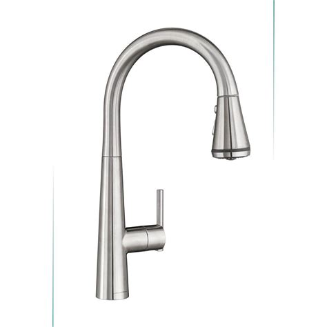 american standard edgewater single handle pull sprayer kitchen faucet with selctflo in