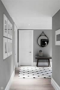 Graue Möbel Welche Wandfarbe : wundersch ner flur in grauer farbe home sweet home pinterest flure farben und grau ~ Markanthonyermac.com Haus und Dekorationen