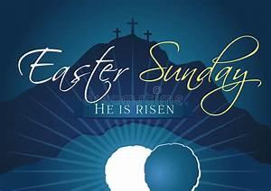 Easter Sunday Holy Week Navy Blue Banner Stock Vector ...
