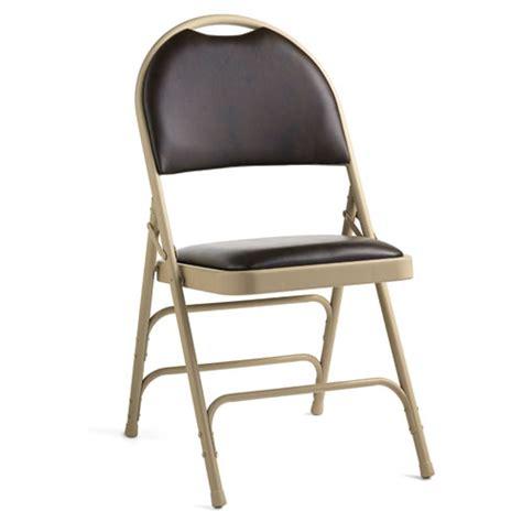 samsonite samsonite leather memory foam padded folding chair comfort series