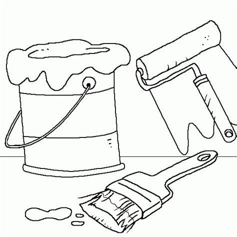 coloriage pot de peinture et pinceaux coloriages de dessin gratuit 224 imprimer