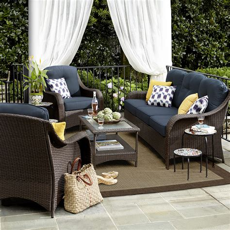 grand resort summerfield 4 pc seating set denim limited availability outdoor living