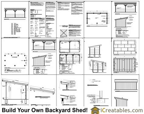 12x24 run in shed plans