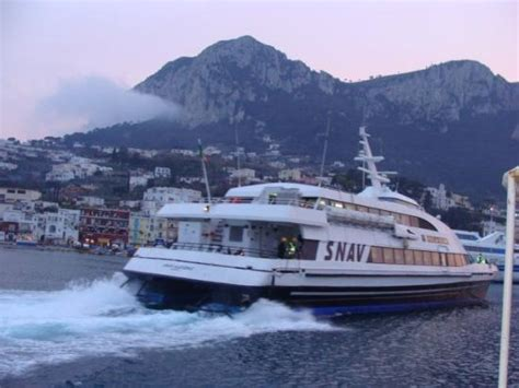 Hydrofoil Boat From Sorrento To Capri by Hydrofoil Boat To Take Us Back To Napoli Picture Of